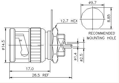 Straight Plug (Bulkhead) Solder
