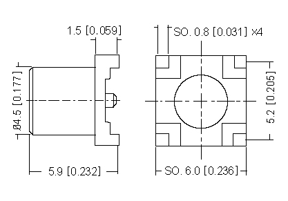 Vertical Socket SMD, PCB