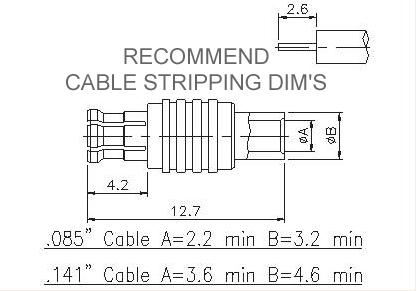 Straight Plug (Semi-Rigid)