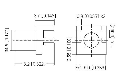 Right Angle Socket  PCB  SMD