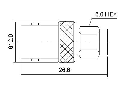 SMA Plug to BNC Socket
