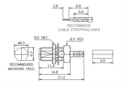 Straight Socket(Bulkhead)