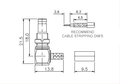 Right Angle Socket (Bulkhead) Crimp
