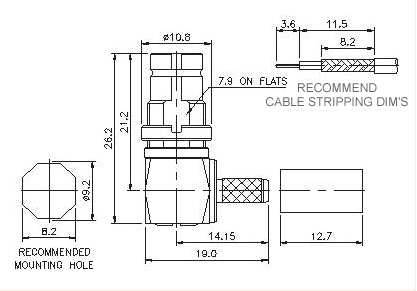 Right Angle Socket Crimp
